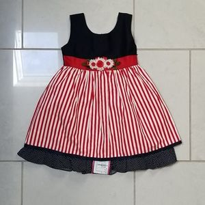NWT 3T red white blue dress